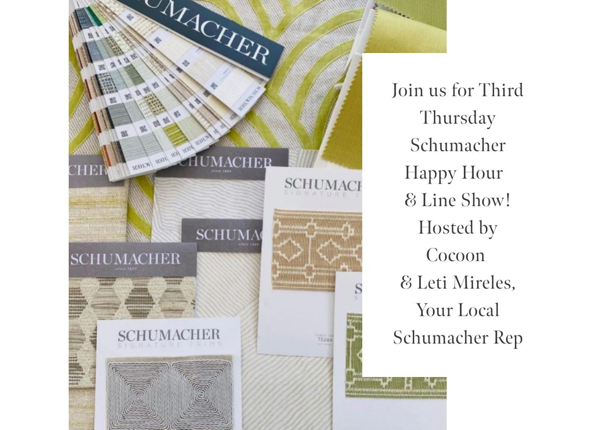 Third Thursday Schumacher Happy Hour & Line Show